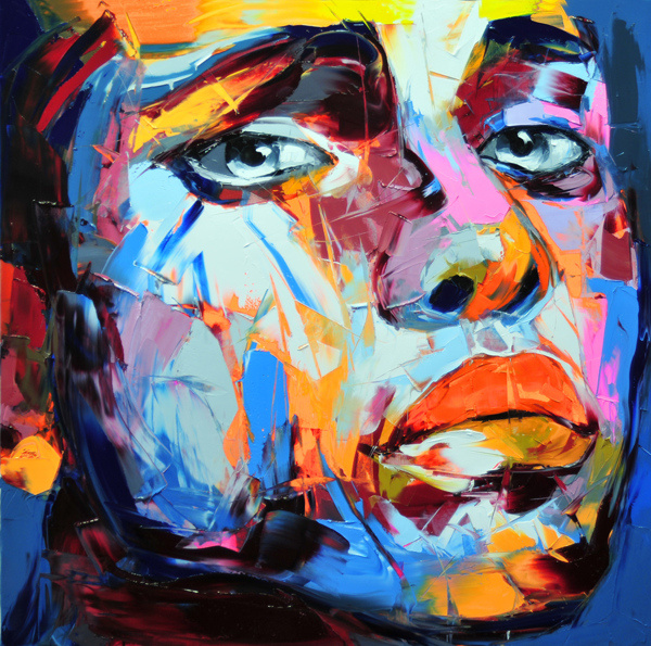 Francoise Nielly Portrait Palette Painting Expression Face001