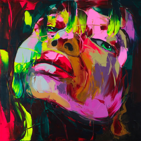 Francoise Nielly Portrait Palette Painting Expression Face002