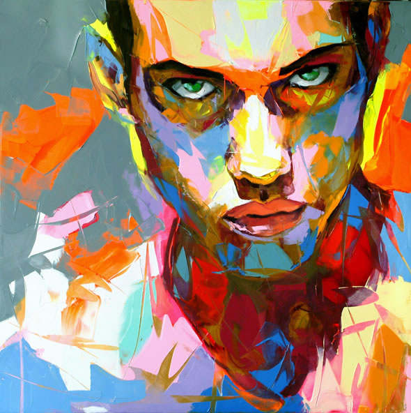 Francoise Nielly Portrait Palette Painting Expression Face006