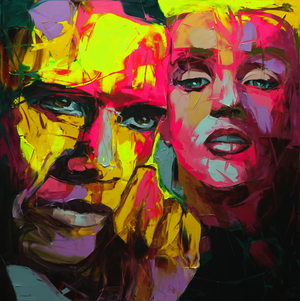 Francoise Nielly Portrait Palette Painting Expression Face007