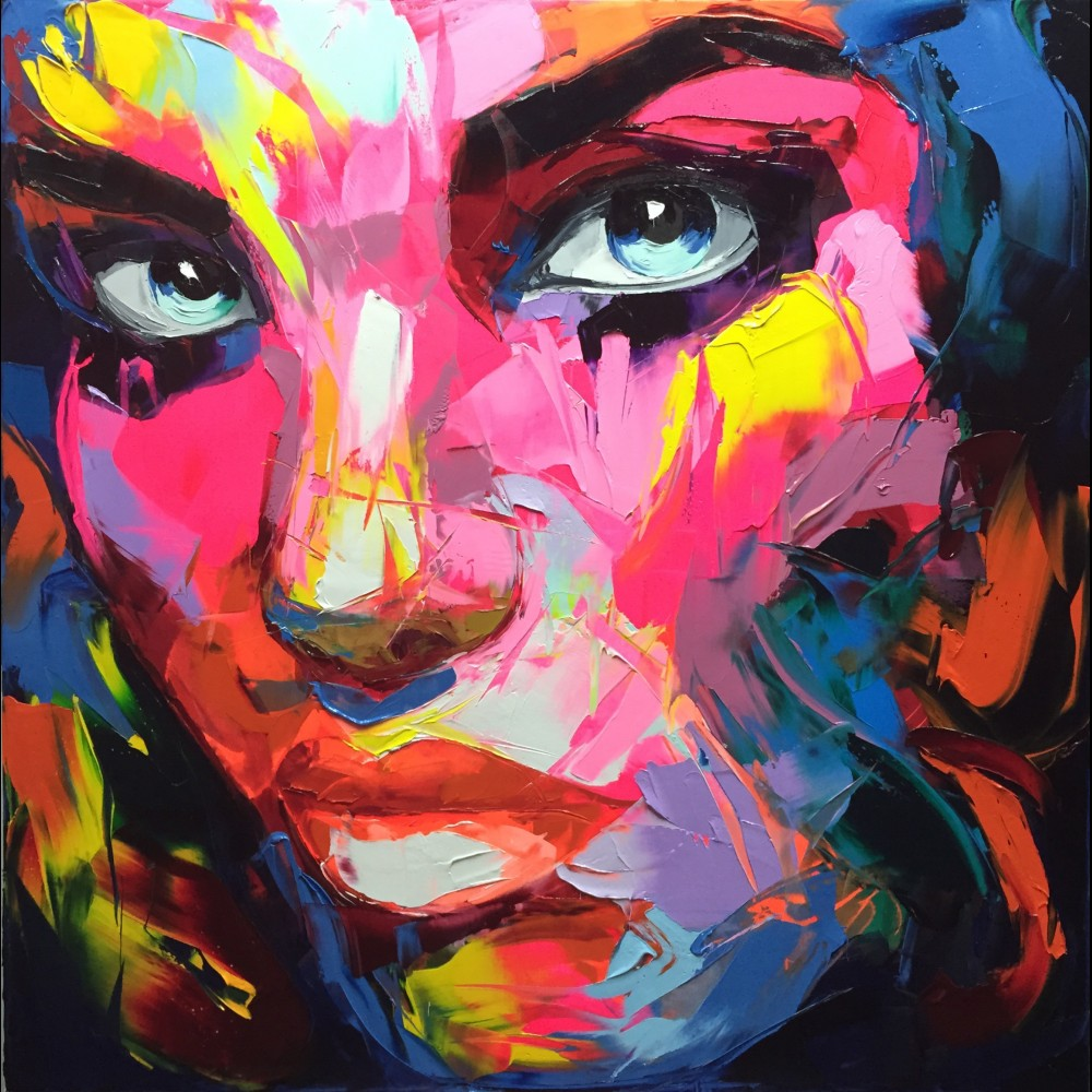 Francoise Nielly Portrait Palette Painting Expression Face008