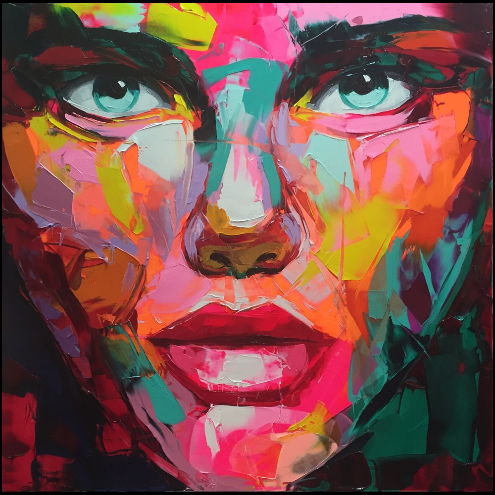 Francoise Nielly Portrait Palette Painting Expression Face009