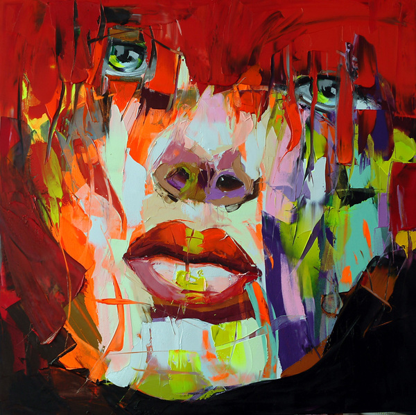 Francoise Nielly Portrait Palette Painting Expression Face010