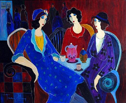 Itzchak Tarkay Nouvelles Figuration Art Oil Painting IT001