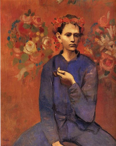 Pablo Picasso Oil Painting A Boy With Pipe Garcon A La Pipe